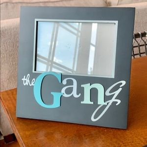 The Gang 4x6 Picture Frame in black, blue, & white